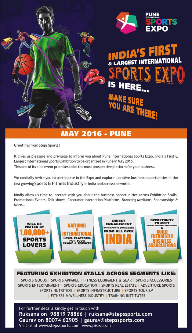 Book Your Stall, Stall Booking, Pune International Sports Expo Stall Booking