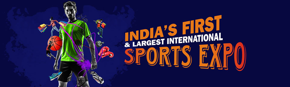 Pune International Sports Expo 2016 in India. Sports goods, sports apparel, sports equipments, sports accessories exhibition in Pune, India.